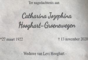 Tiny Hooghart overleden.
